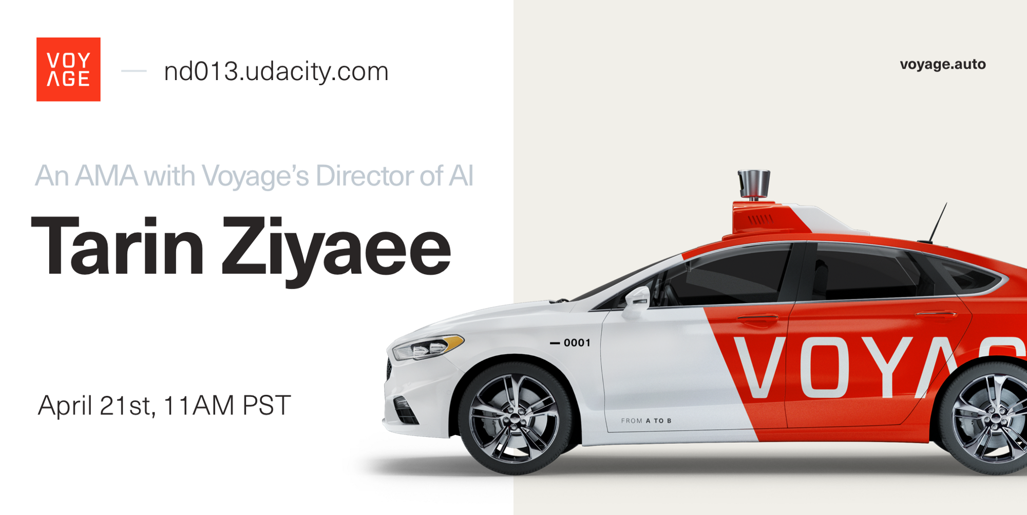 low cost autonomous taxis for the world ama with tarin ziyaee director of ai at voyage. Black Bedroom Furniture Sets. Home Design Ideas