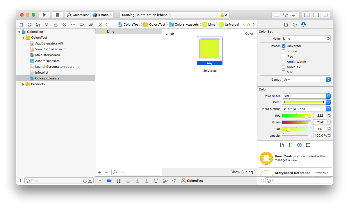 Working Efficiently With Colors In Xcode Pablo Villar Medium Just How Do You Make A Color Sensor Can Get Your Custom Either From Interface Builder Or The Code Referring Both Cases To Same Thing