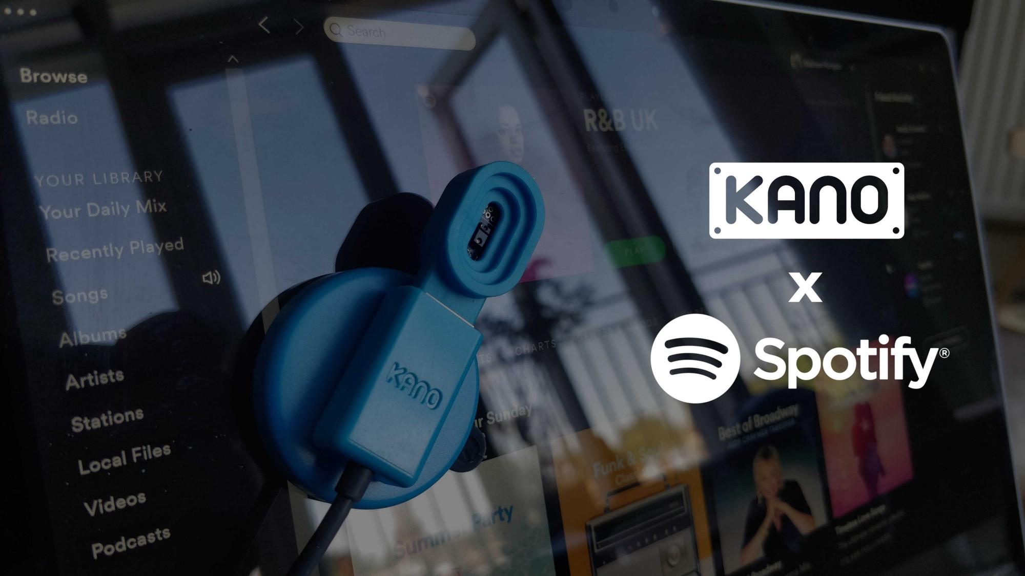Hacking your kit: Kano x Spotify - Motion Controlled Music