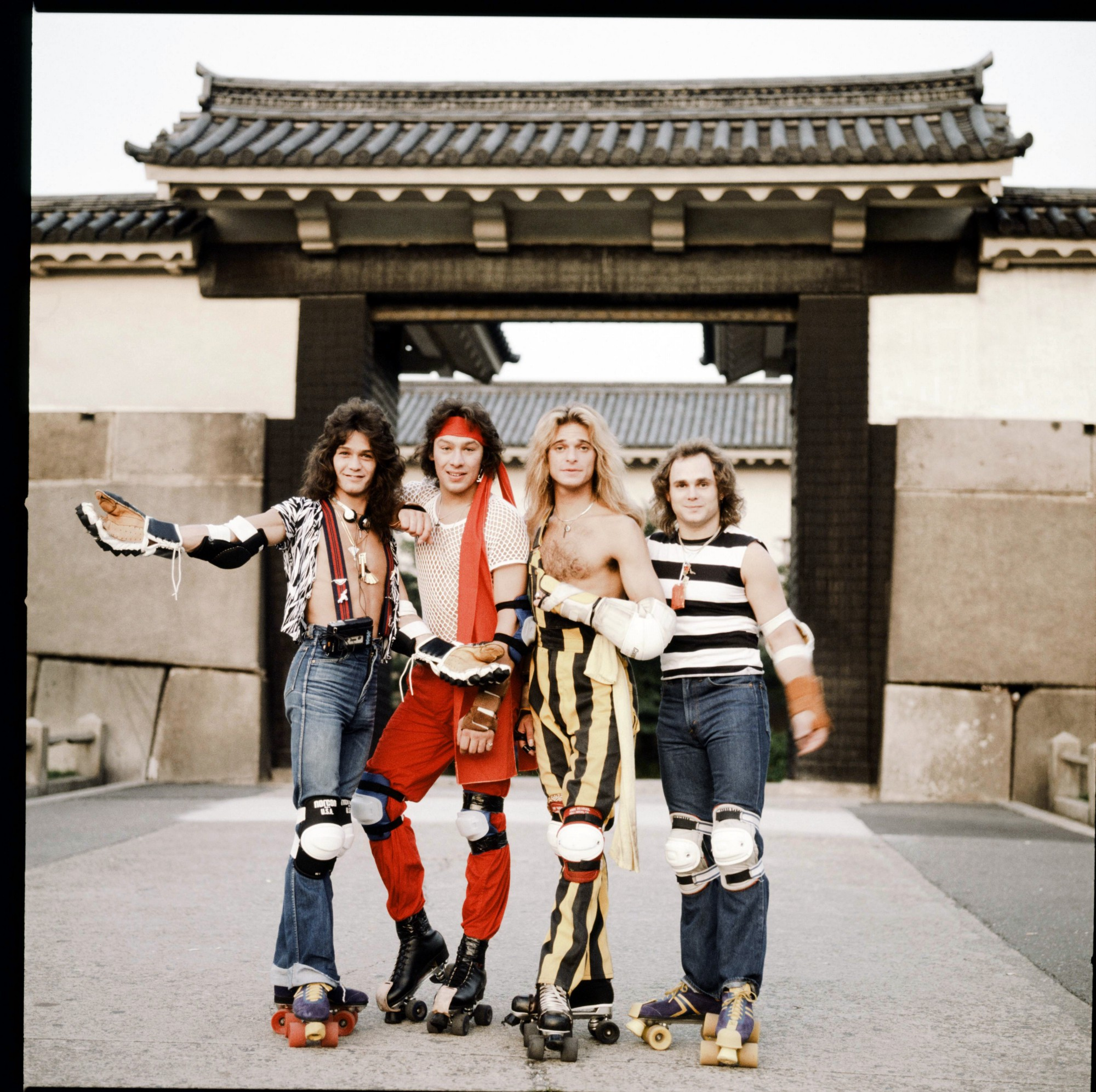 Photos of rock stars performing in Japan in the 1970s and 80s