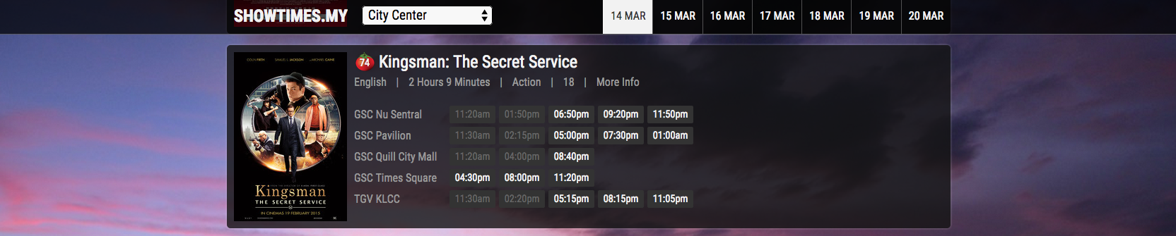 Redesigning Showtimes.my