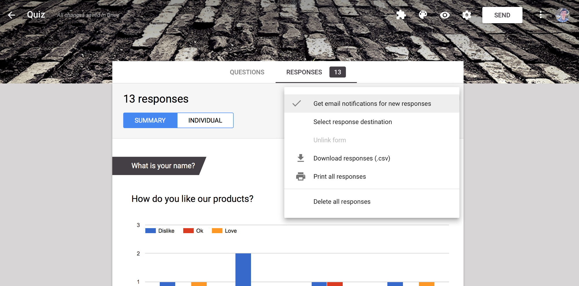 how to get customized email notifications from google forms with a