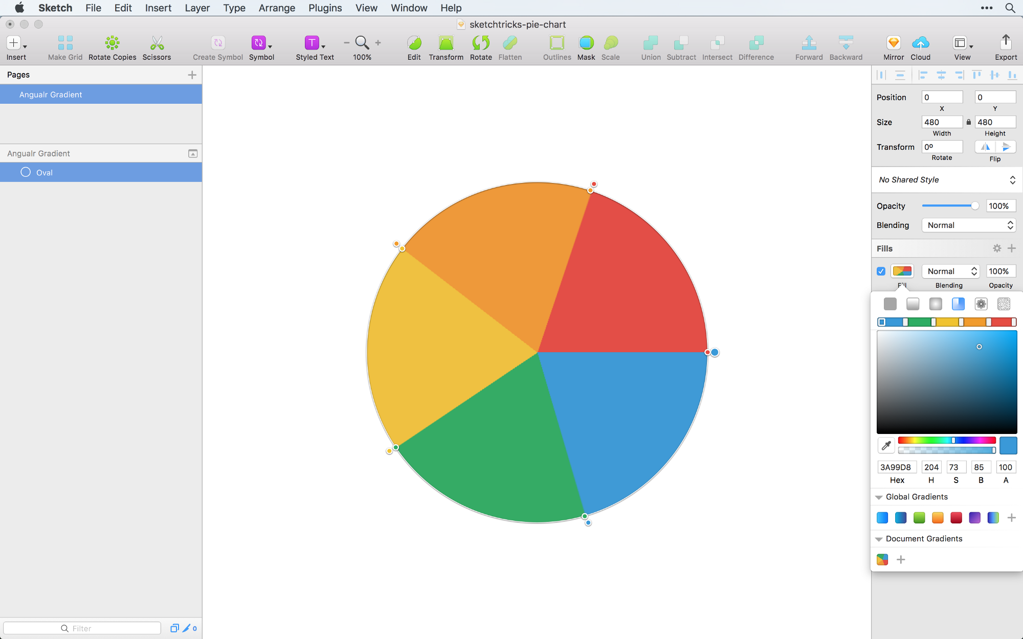 Creating A Pie Chart In Sketch The Right Way Sketch Tricks Medium