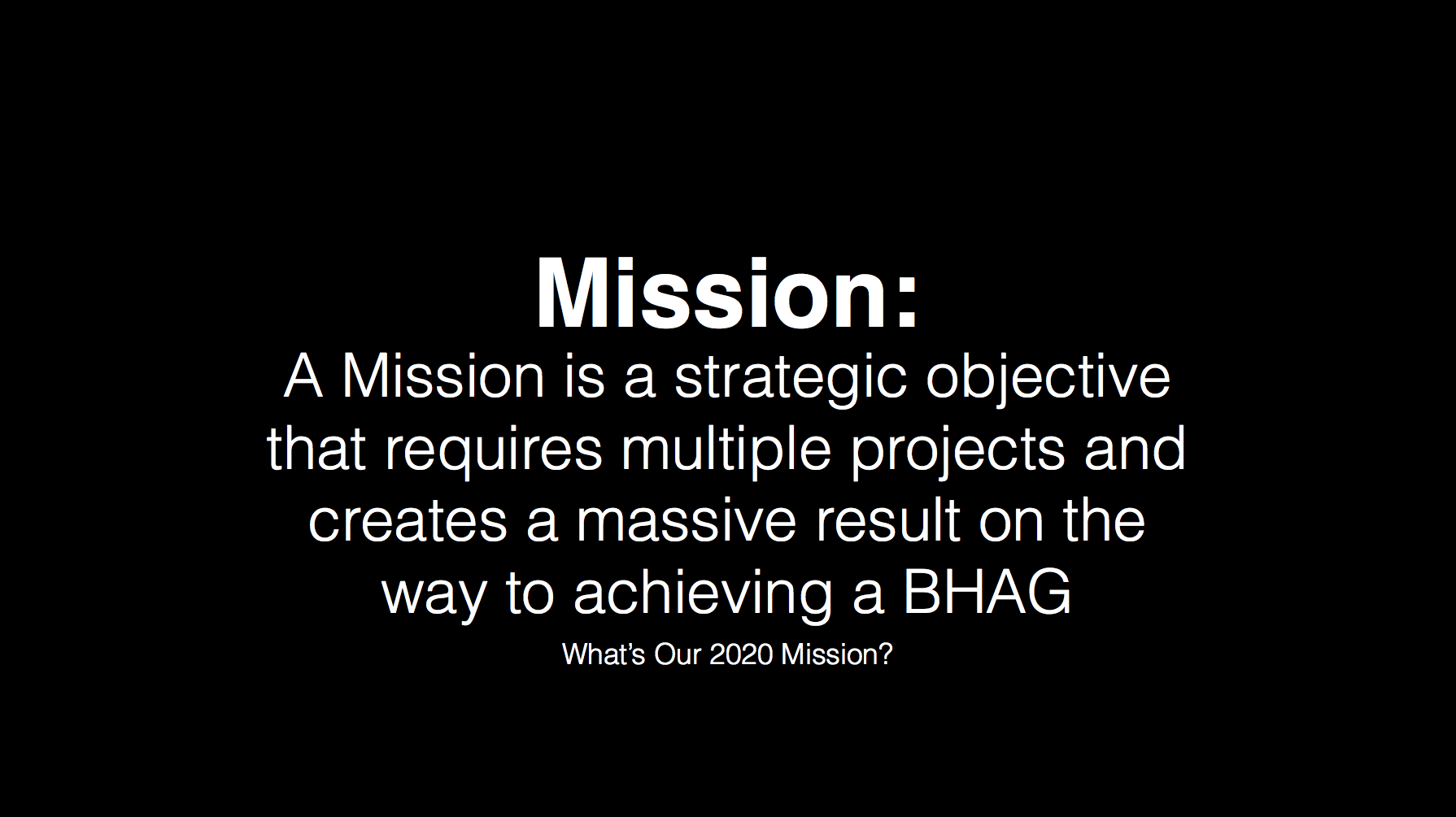 What Is The Difference Between A Purpose Vision Mission And Bhag