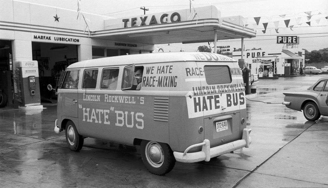 Photos Of American Nazis Driving A Hate Bus Through The