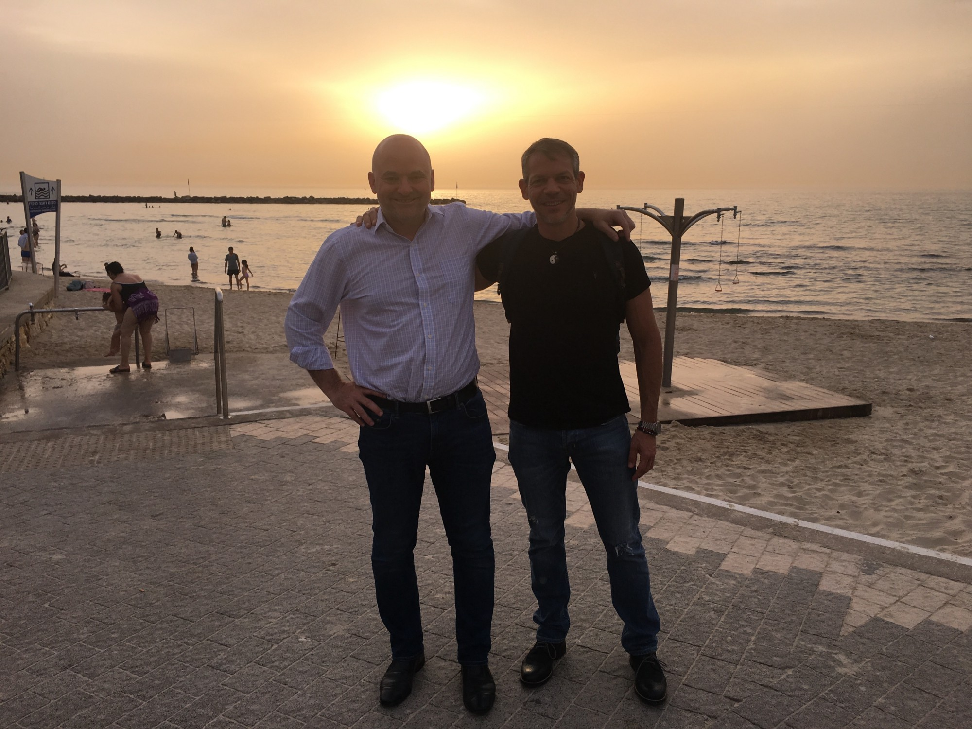 Living the Crypto dream in Tel Aviv with my friend Nimrod May, CMO of SIRIN  LABS