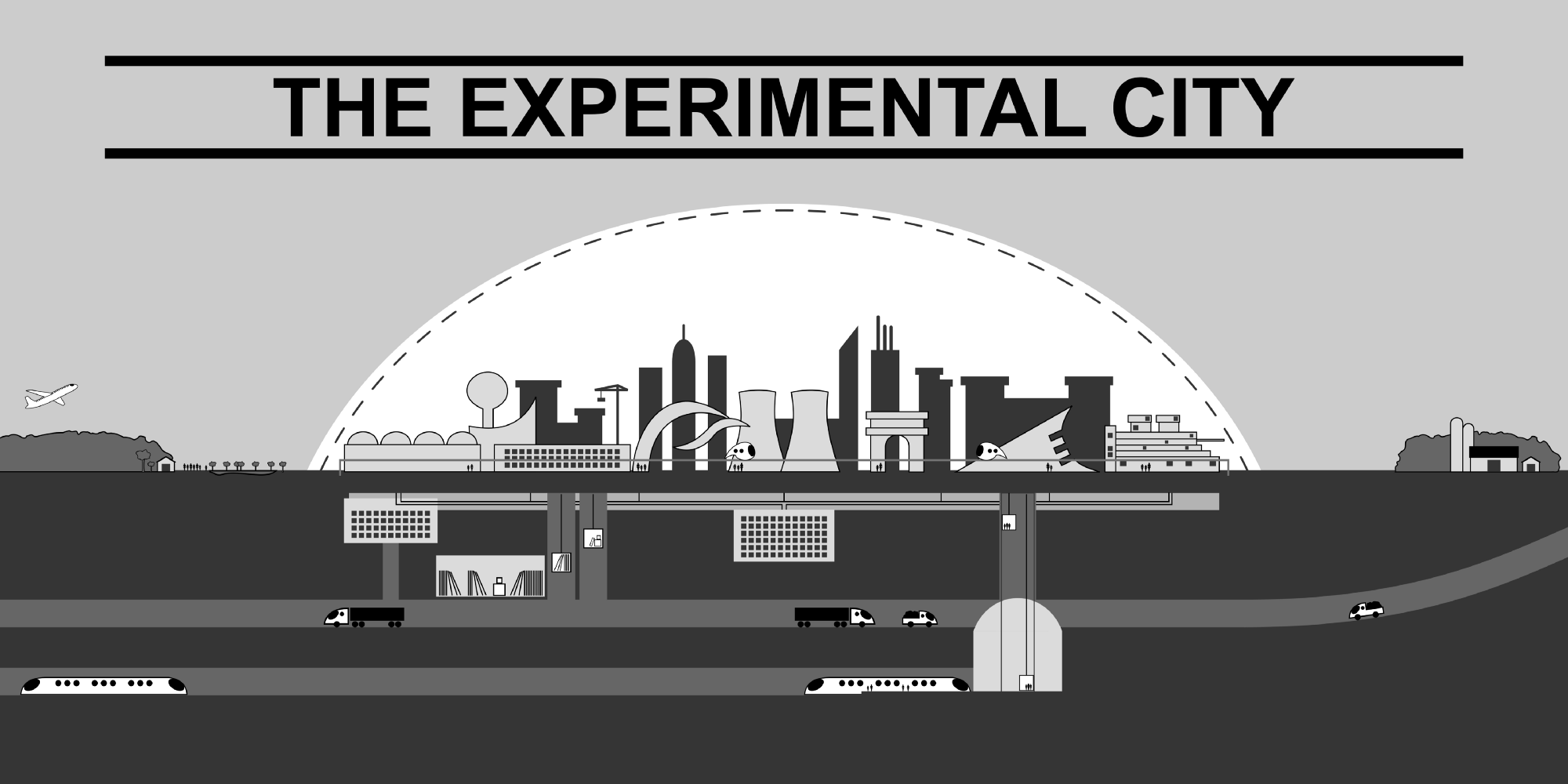 An artist rendering of Athelstan Spilhaus' proposed Minnesota Experimental City   Russell Habermann/Minnesota SeaGrant