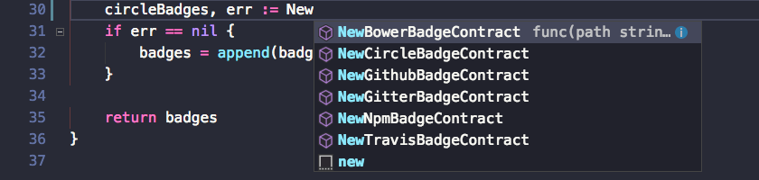 Code completion in VS Code