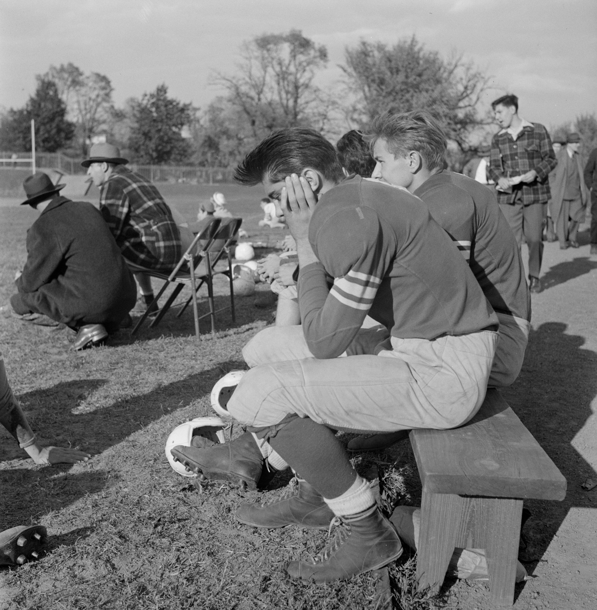 in these 1940s pictures the real heart of american football was on