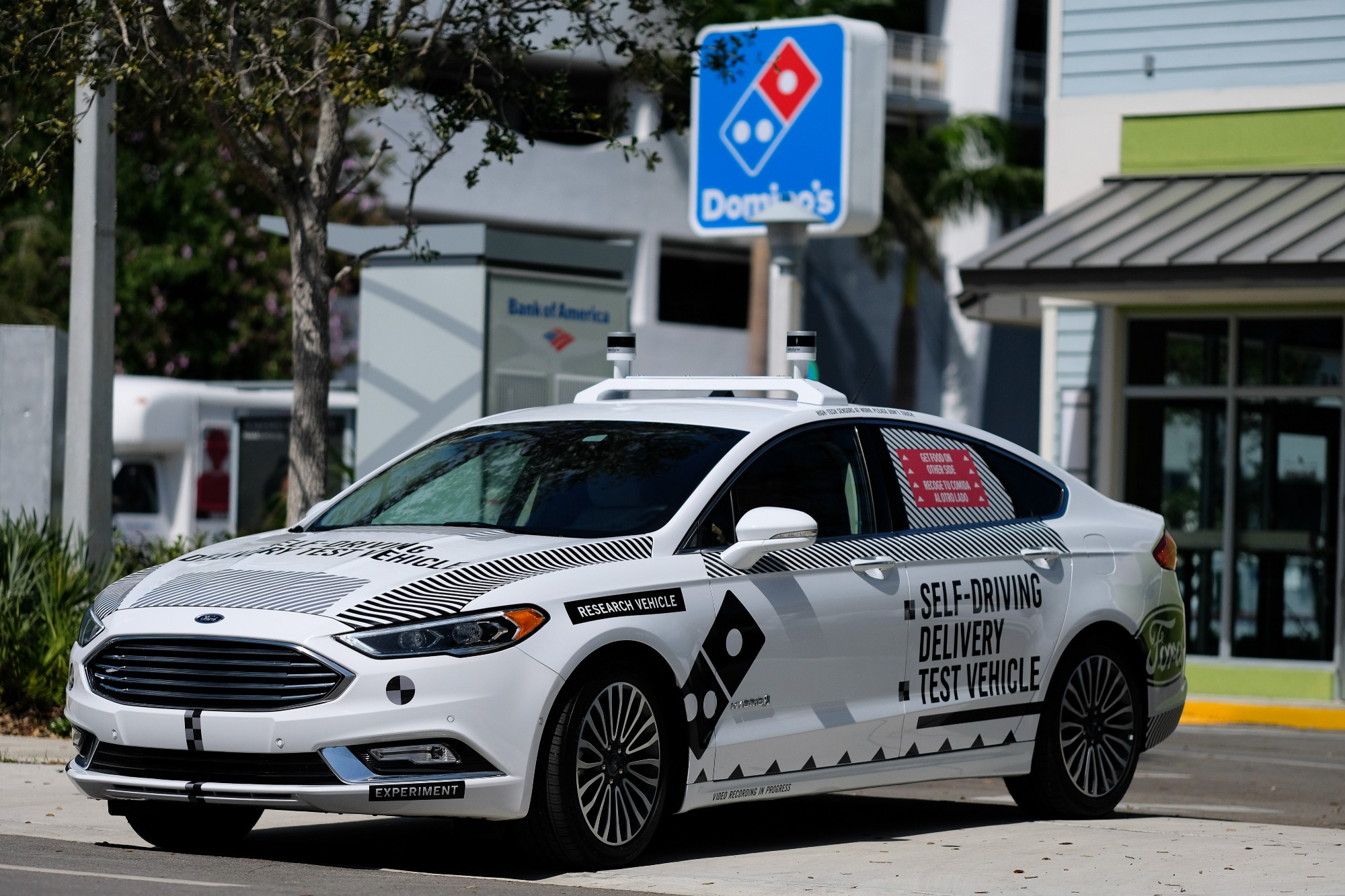Domino's and Ford trial self-driving pizza delivery cars in Miami