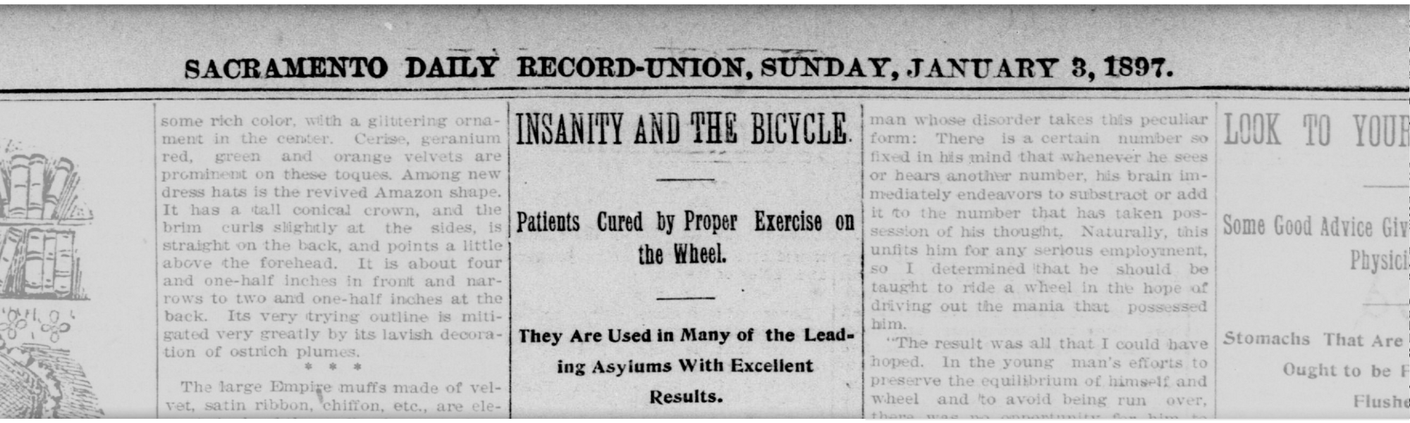 In the early days, bicycles were blamed for making riders—especially women—crazy