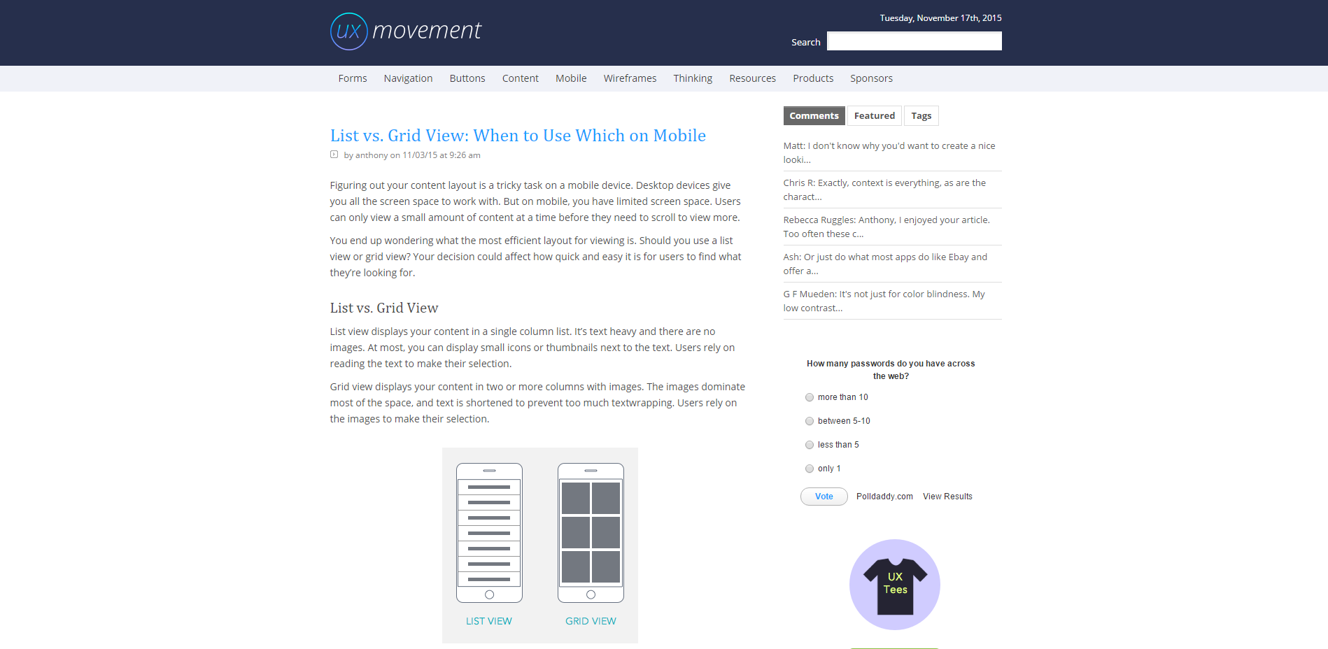 UX Movement Screenshot