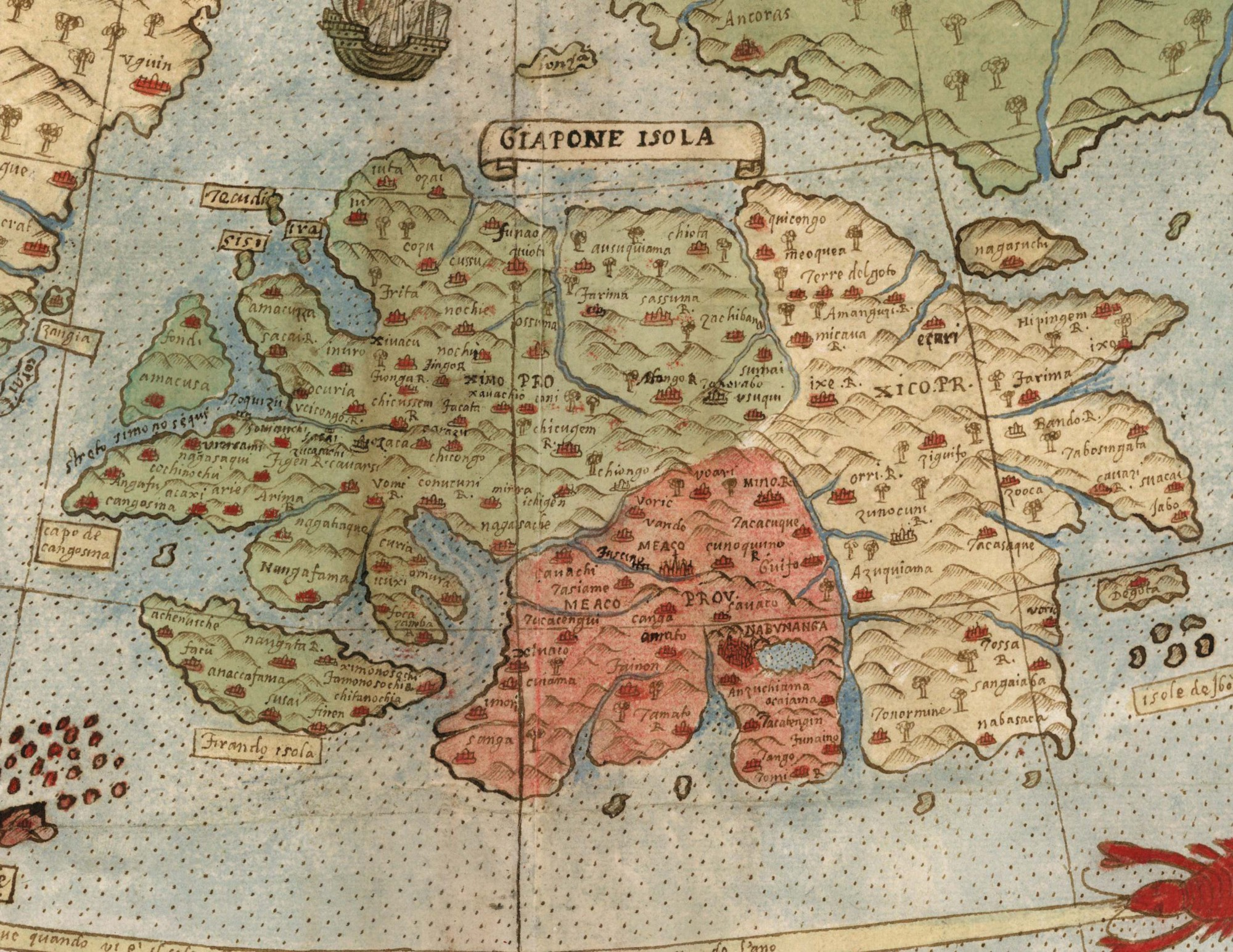 The largest early world map is unveiled for the first time detail of tavola nona japan gumiabroncs Image collections
