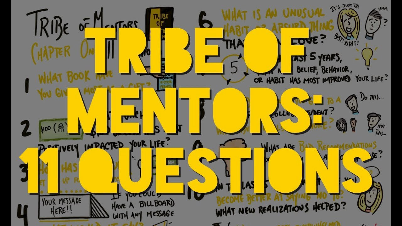 tribe of mentors  Tim Ferris's 11 questions from Tribe of Mentors — Jukesie edition :)