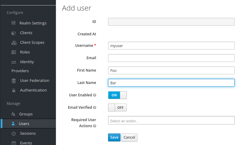 An example of our themed Keycloak and the Admin GUI for managing