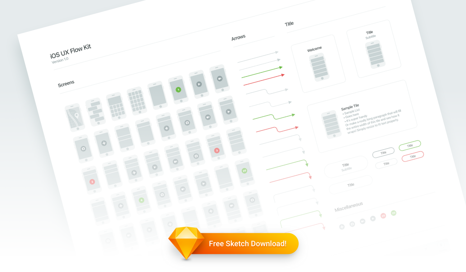 Free Sketch Download: iOS UX Flow Kit – Insightful Software