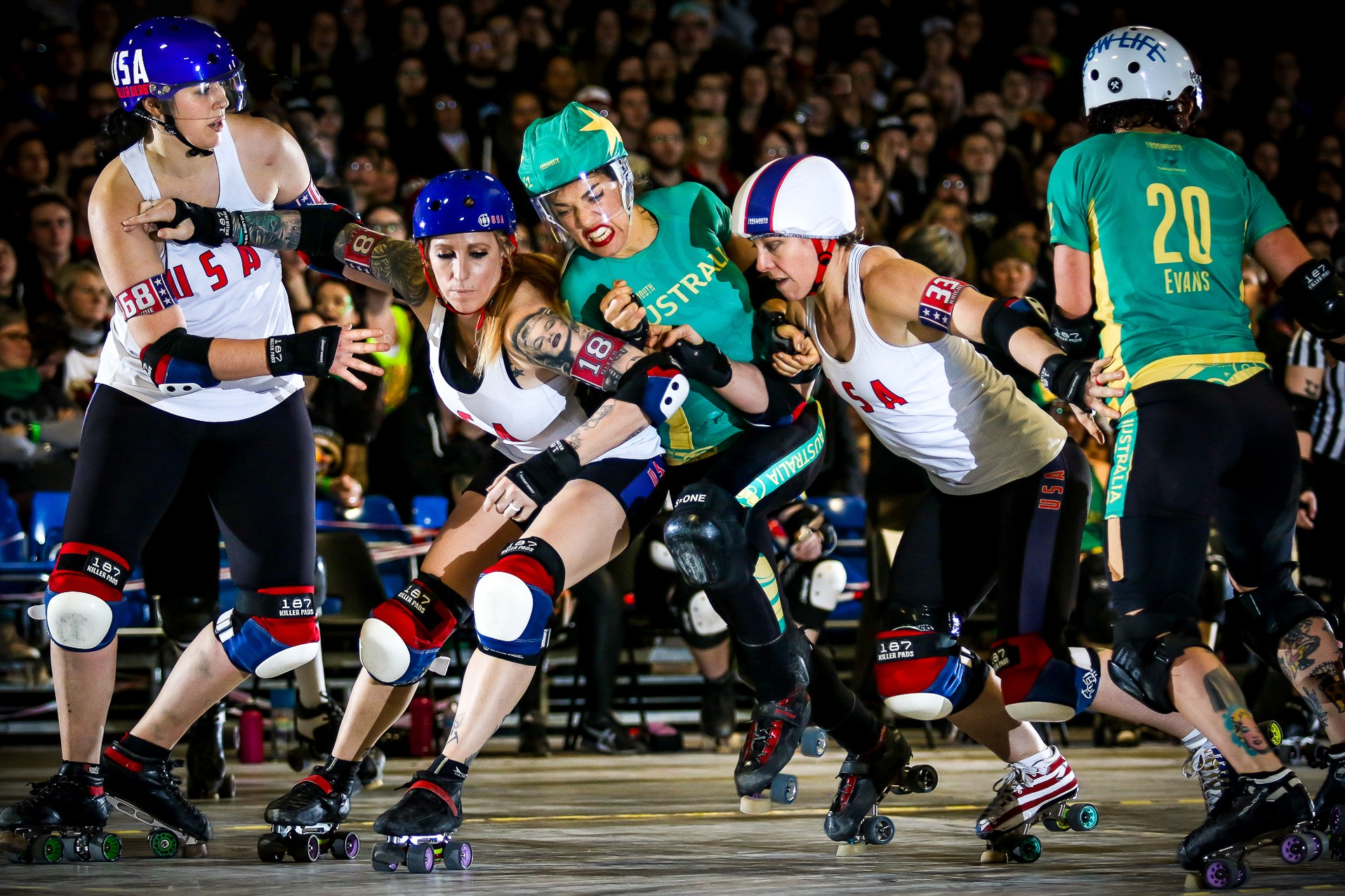 The Best Roller Derby World Cup Photos – Frogmouth – Medium