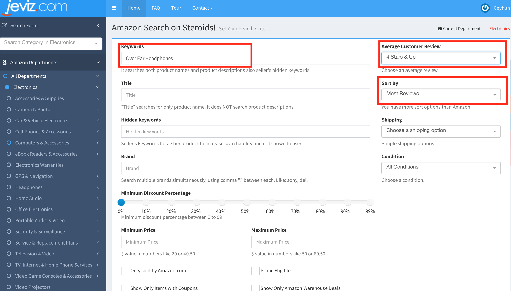 amazon search hack eliminate amazon products that have 4 or 5 stars