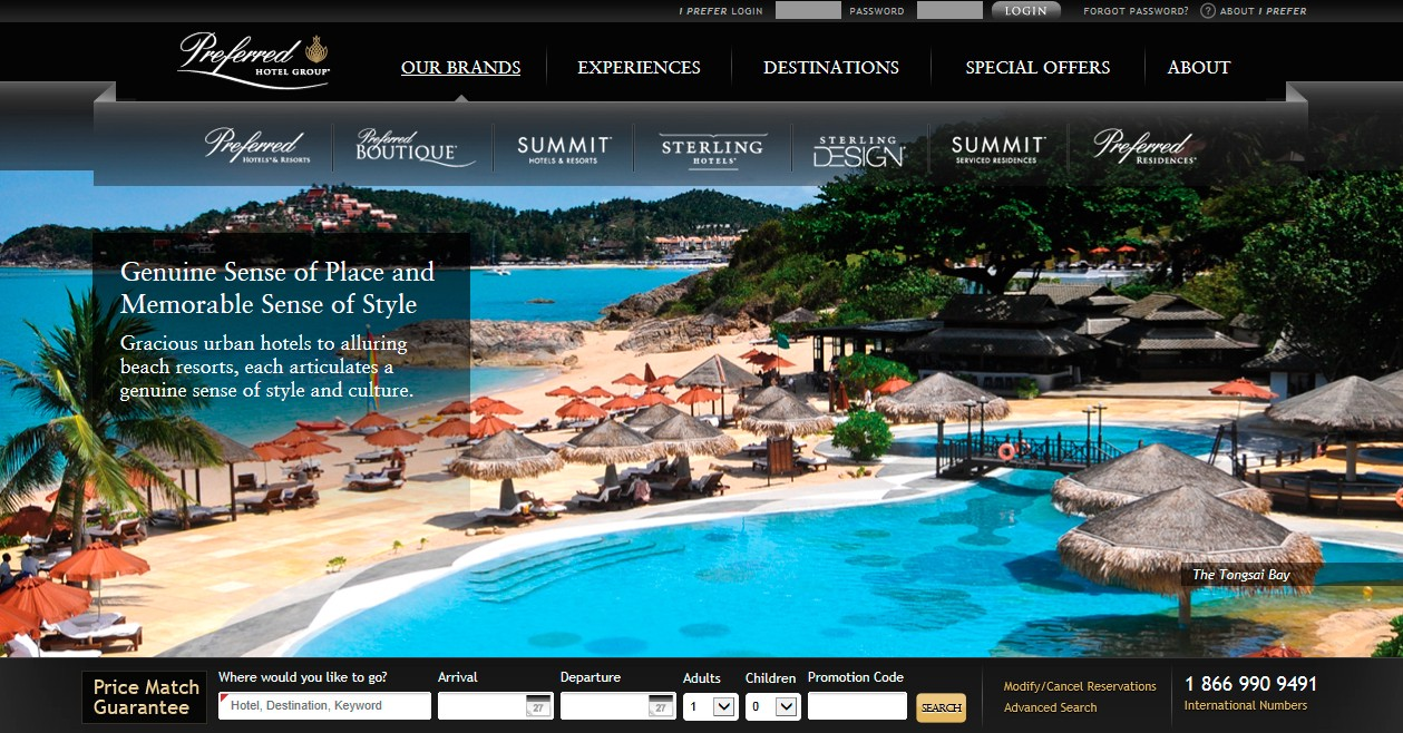 A Typical Hotel Website
