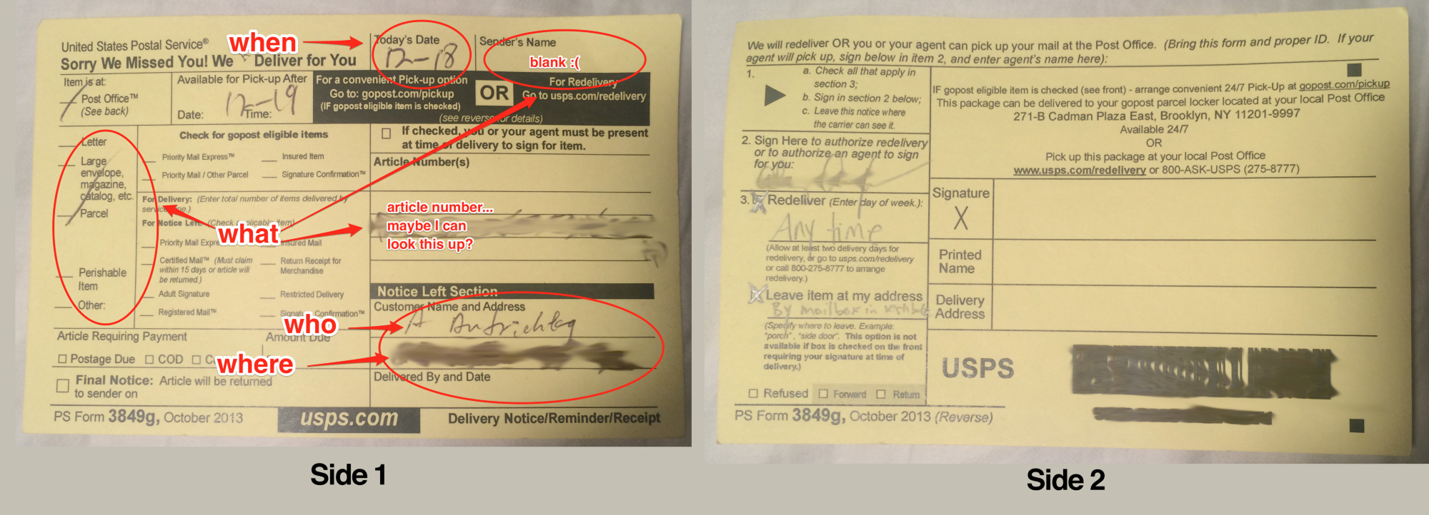I redesigned the USPS package delivery slip The Startup Medium – Delivery Slip