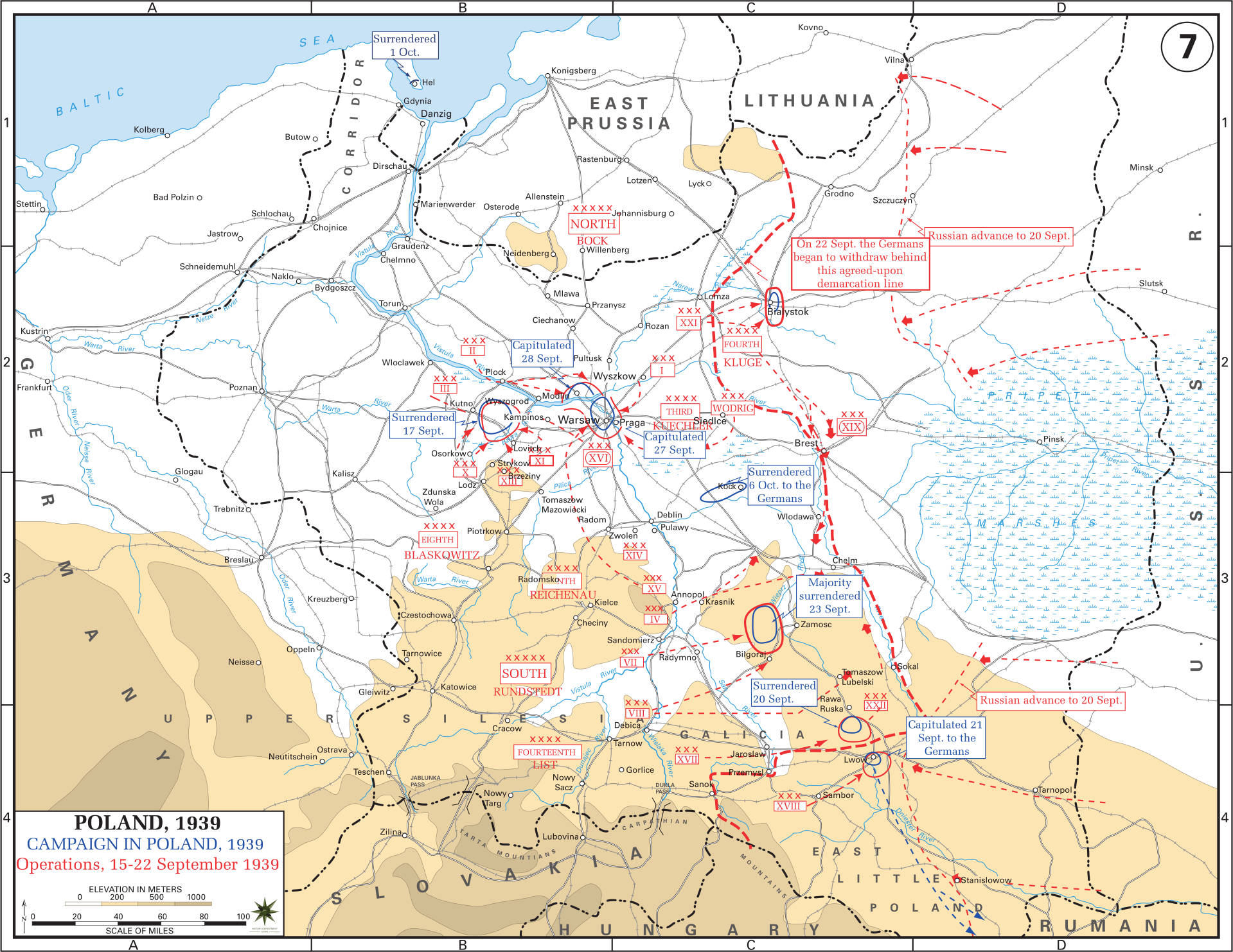 Eastern front maps of world war ii inflab medium campaign in poland 1522 september 1939 gumiabroncs Image collections