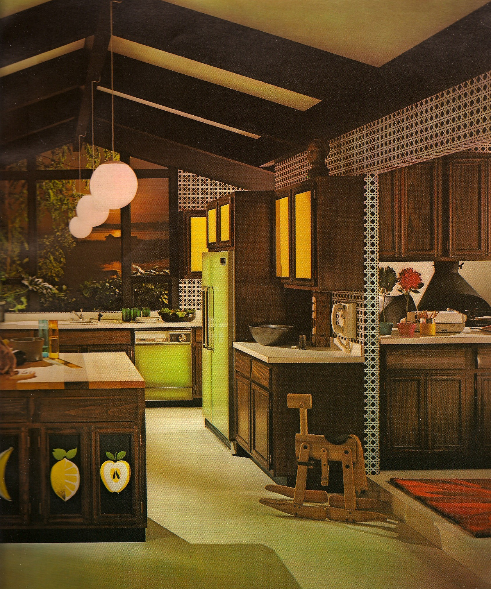 Photos before avocado toast the young people of the for 70s style kitchen cabinets