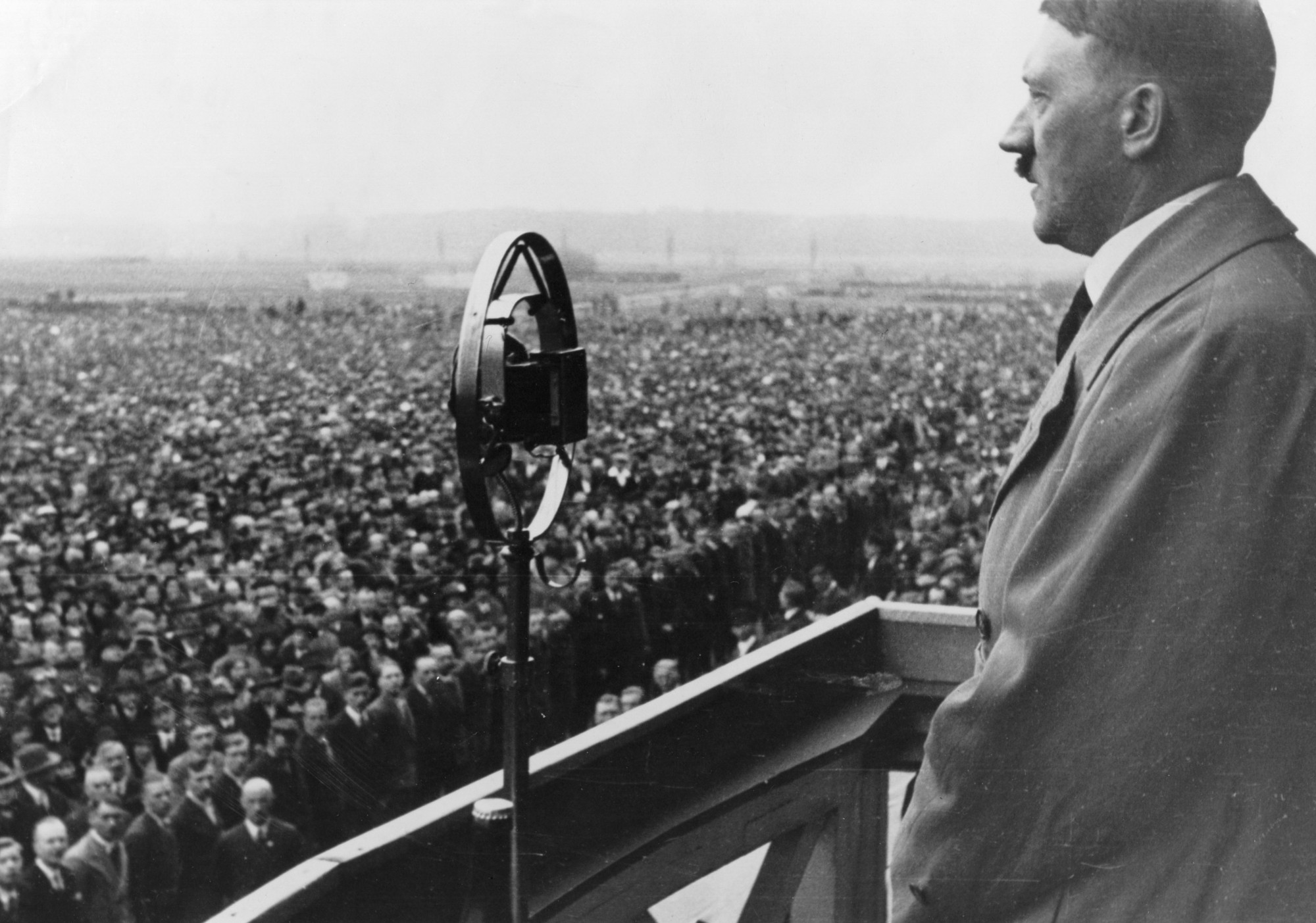 Image result for hitler addressing rally