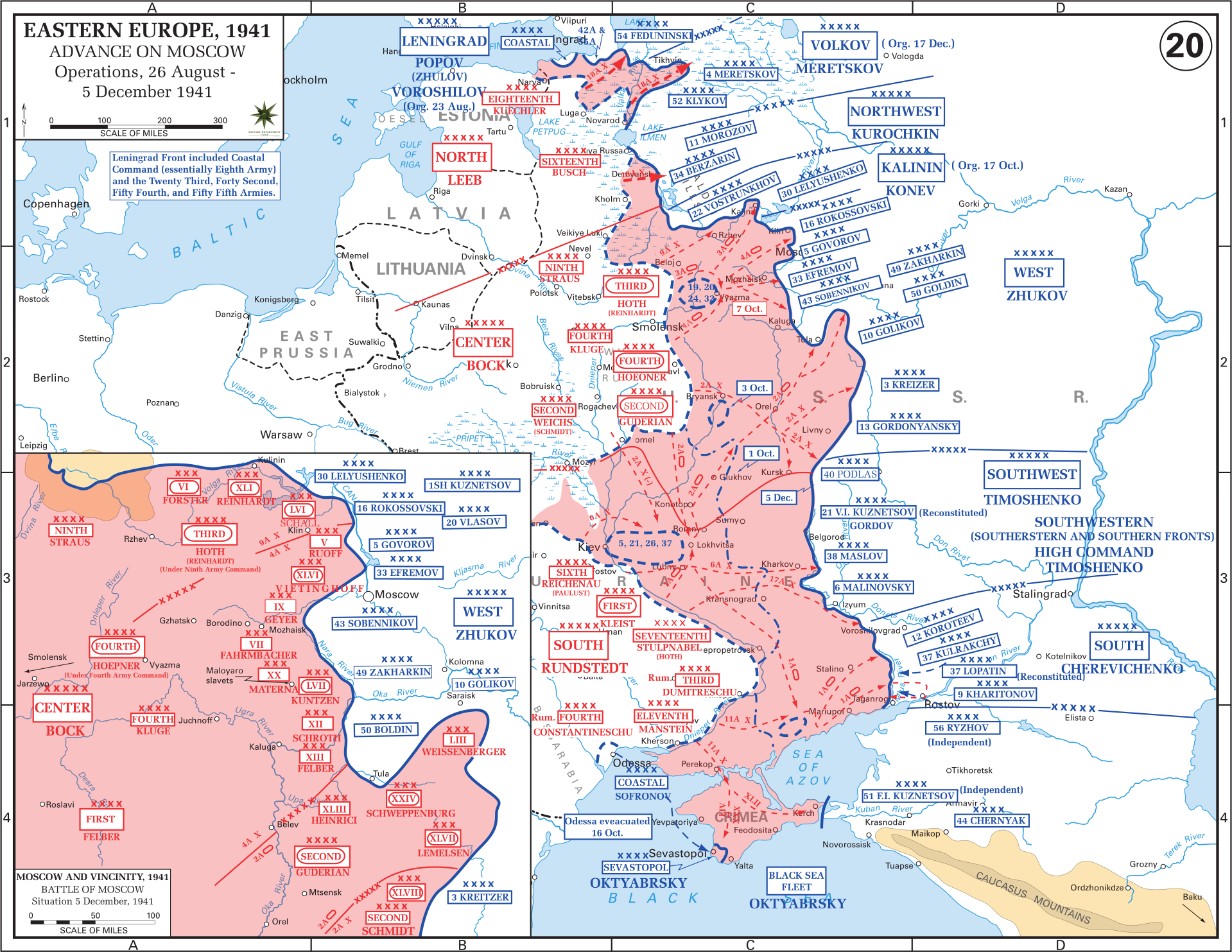 Eastern Front Maps Of World War II Inflab Medium - Moscow russia on world map
