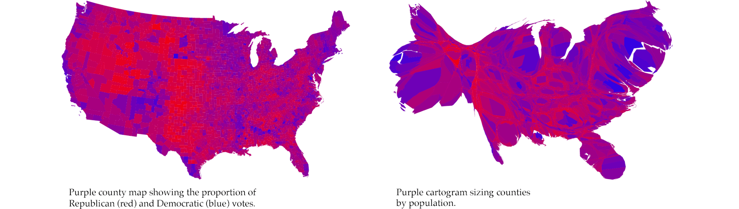 Design And Redesign Fernanda Martin Medium - Political party map us red blue purple