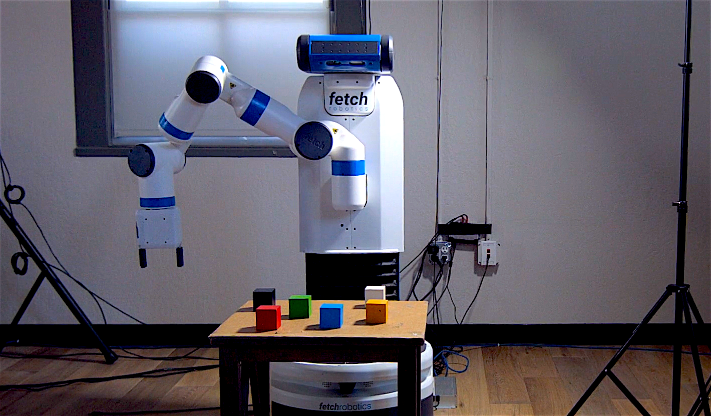 See Robot Play: an exploration of curiosity in humans and machines.