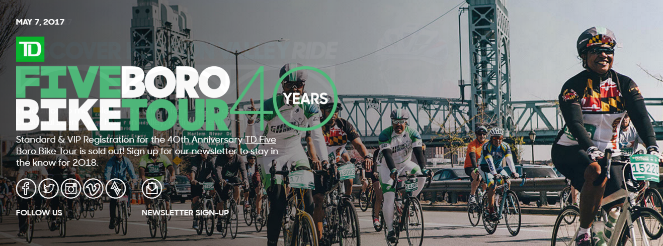 This Sunday I Will Take Part In The Annual Td Five Boro Bike Tour Its One Of The Coolest Rides Offered By Bike Nyc The Ride Is Not Difficult Its Only