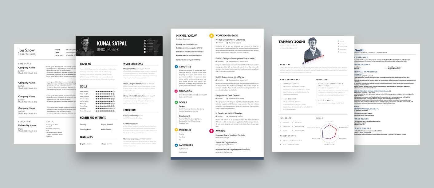 How to design your own resume – UX Collective