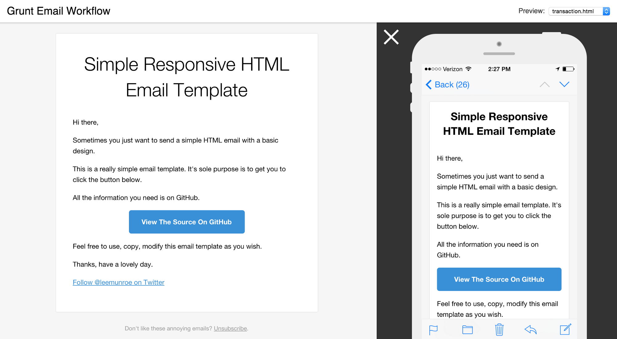 Creating sending transactional emails with and for Mailgun templates