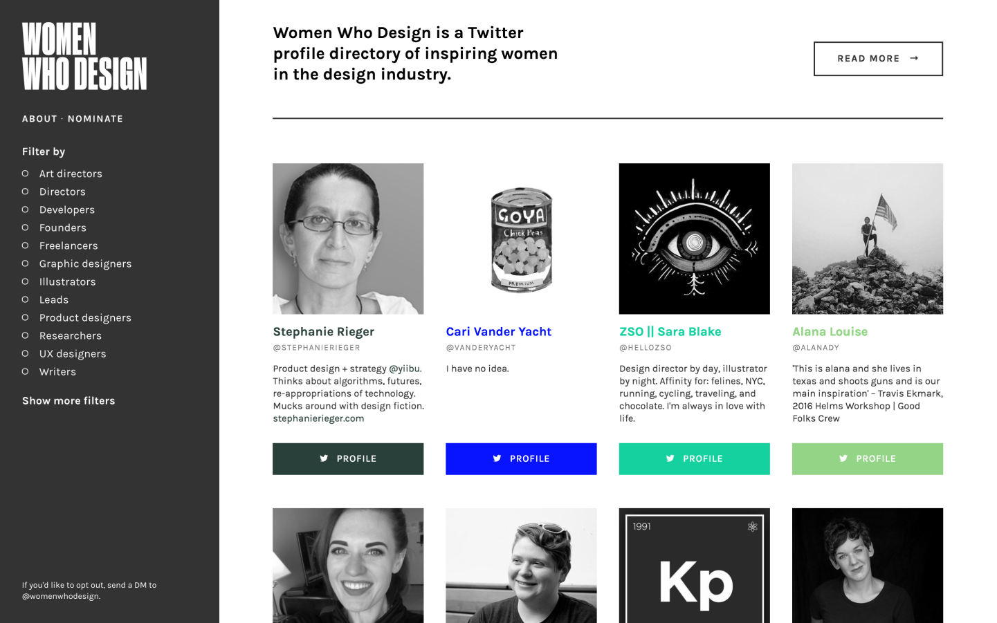 This website shows that to find talented female designers, you just need to look