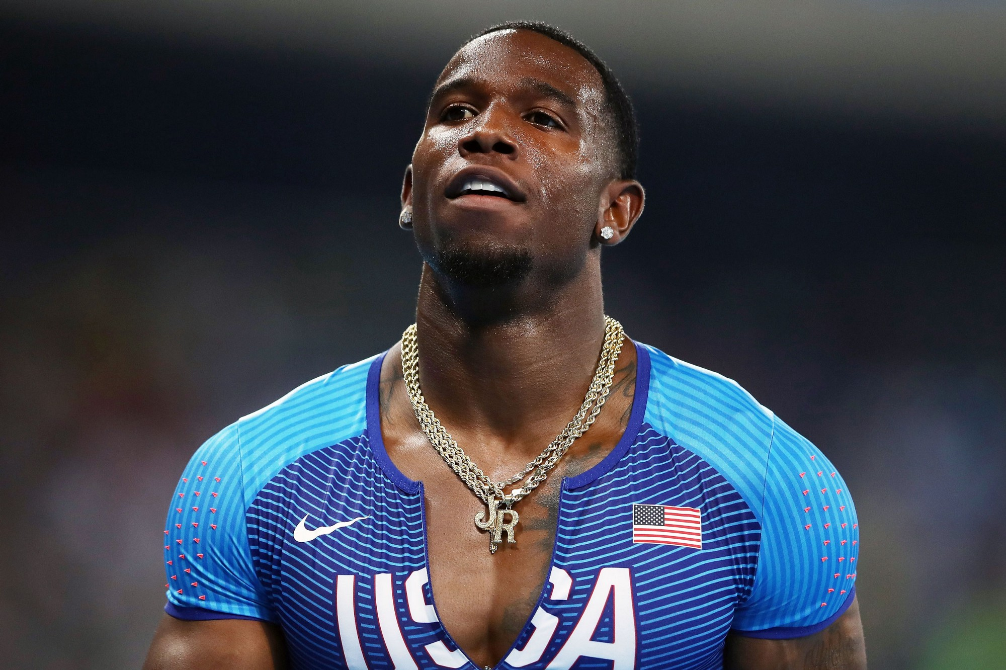 A USA  track athlete said kissing led to failed drug test