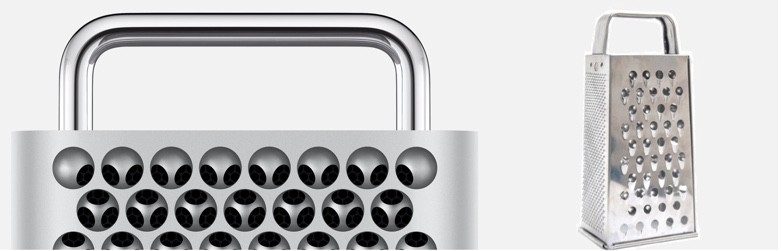 I bet that Apple is totally in on the «Cheese grater» — joke….