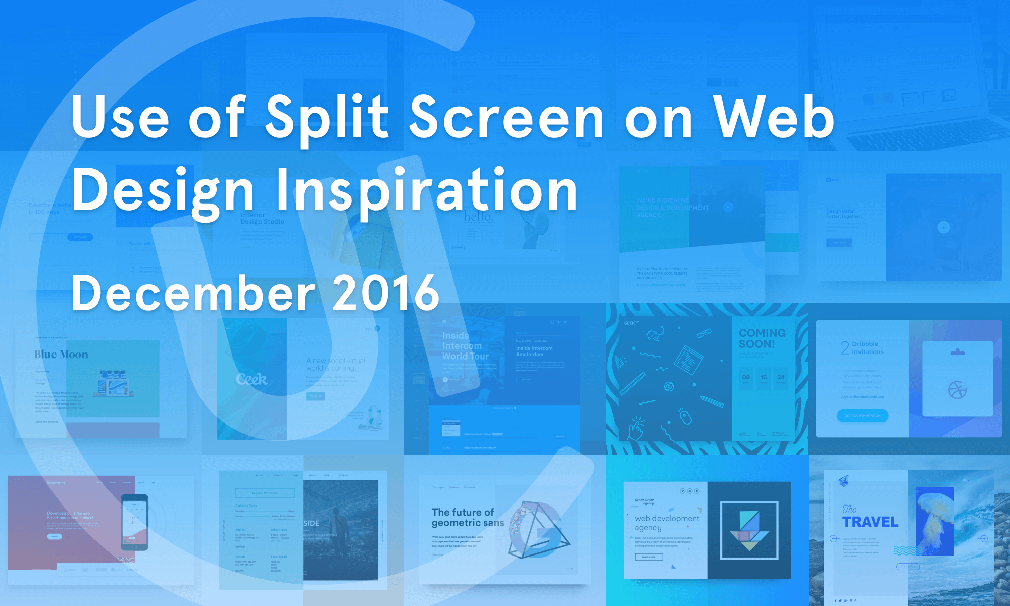 Use of Split Screen on Web Design Inspiration — December 2016