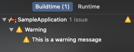Warnings are visible inside Issue Navigator