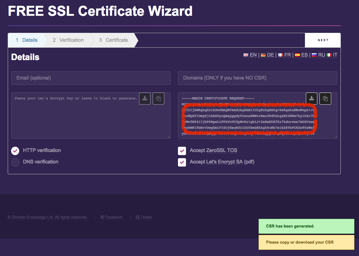 Free ssl certs george medium it will generate the csr download it then click next to generate the key xflitez Gallery