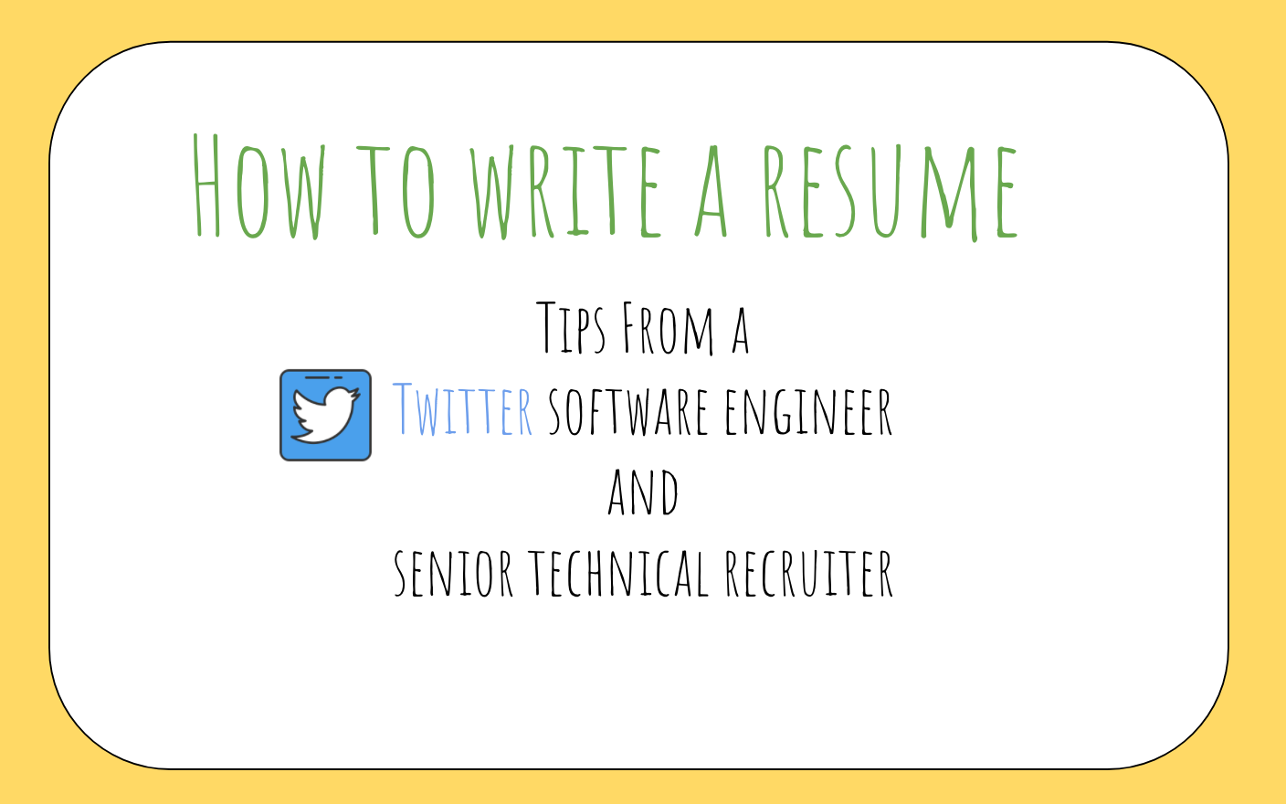 for those of you who are starting out on your job search and have questions about how to prepare a great rsum that can get your foot in the door - Software Developer Resume
