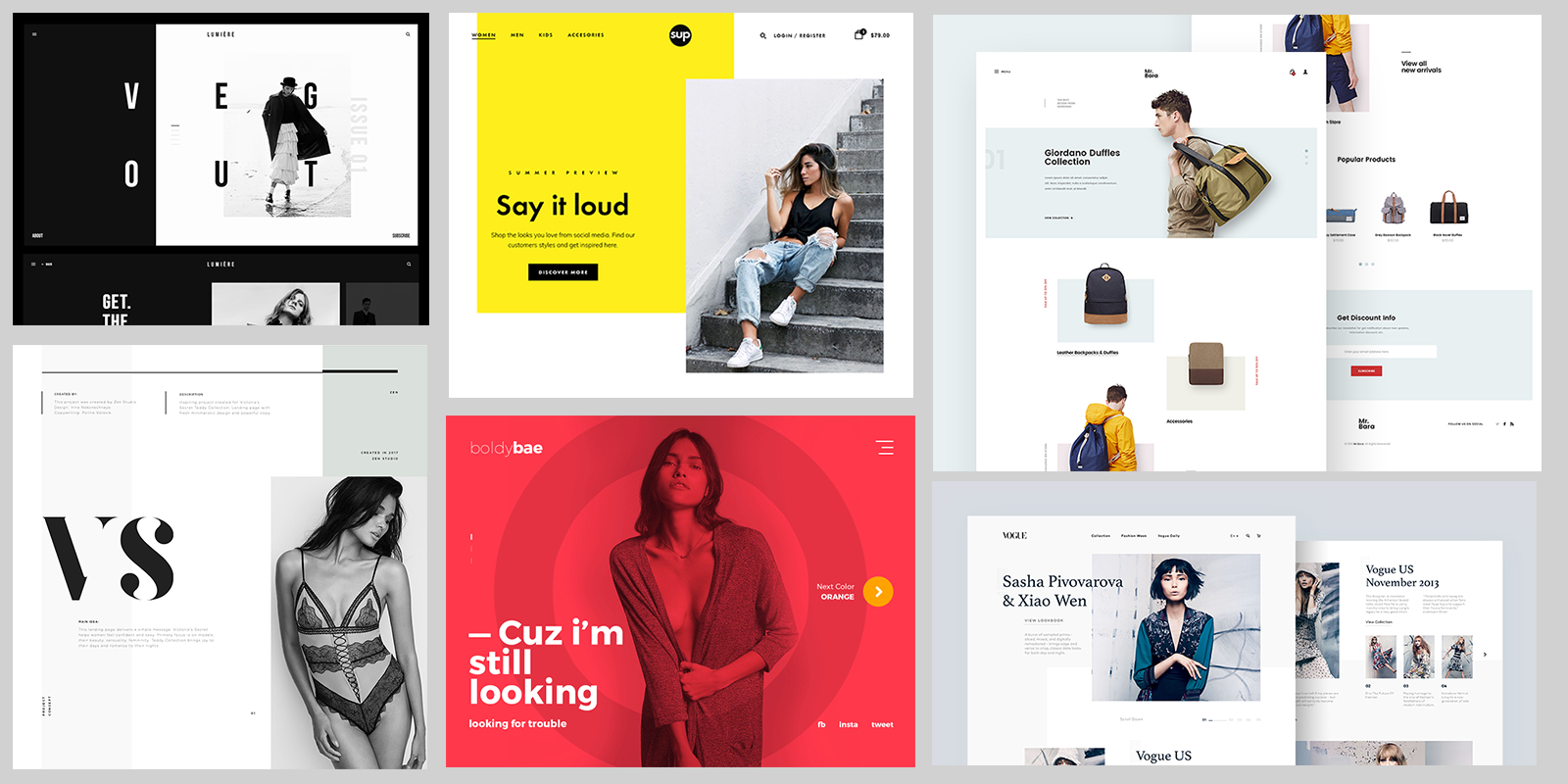 Fashion Web Design Inspiration 2017 Muzli Design