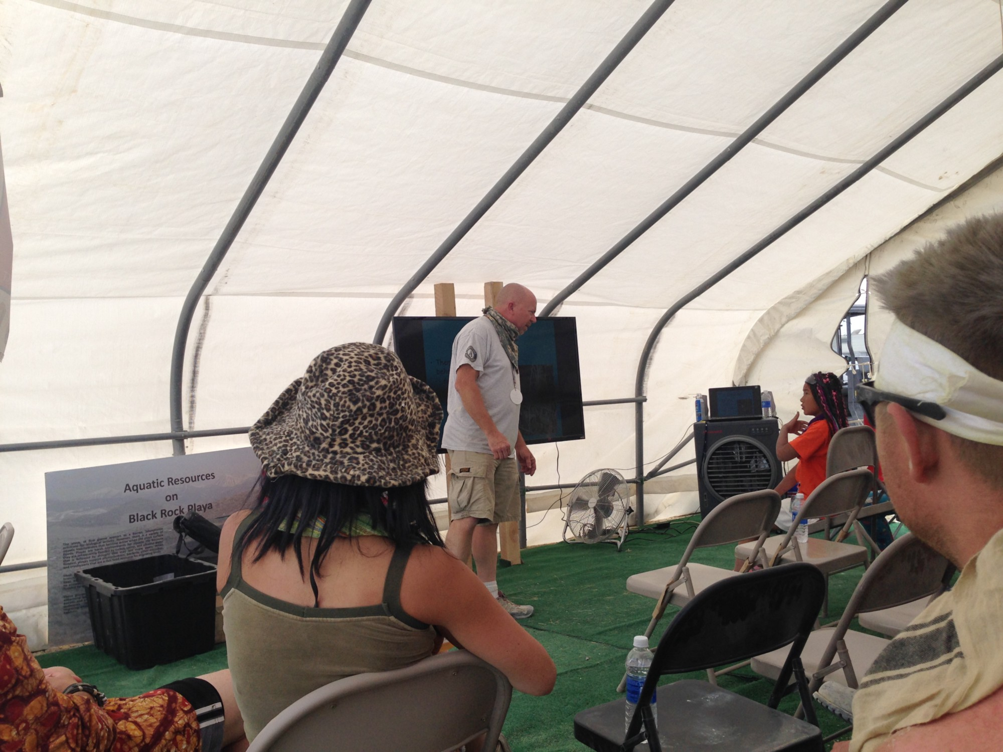 A Black Rock scout asks about the desert environment at Burning Man