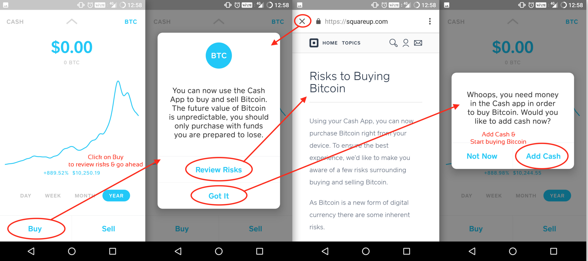 How to buy bitcoin with cash hacker noon thats how you navigate the cash app and finally buy your bitcoin all prices are based on market rates across various exchanges there is no conversion fee ccuart Choice Image