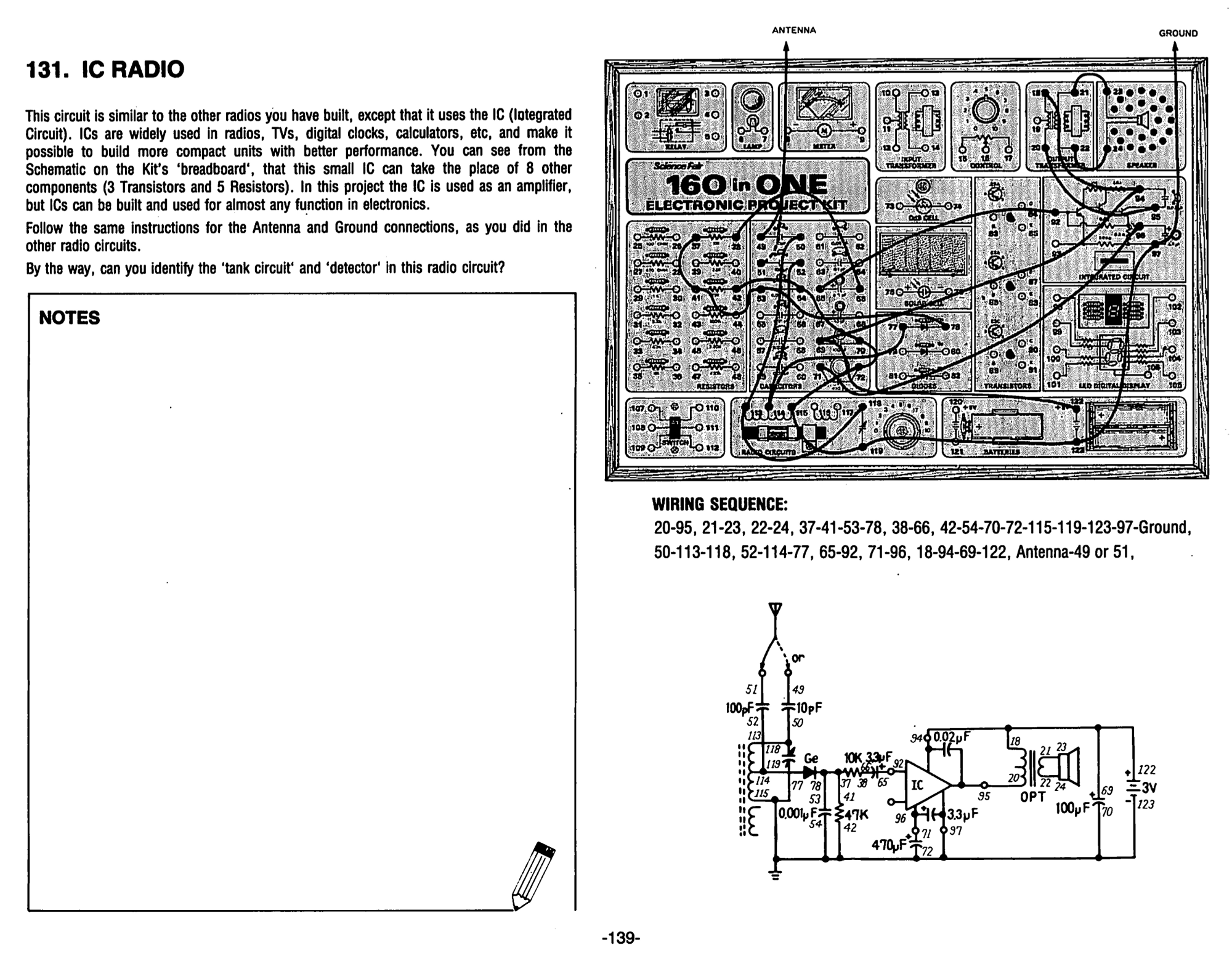 Electronic Project Kits Hands On With A Vintage 160 In 1 Morse 300 Sewing Machine Threading Diagram This Particular Ic Is Not Too Interesting Modern Times It Fairly Obscure And Many Other Amplifiers Are Available Instead