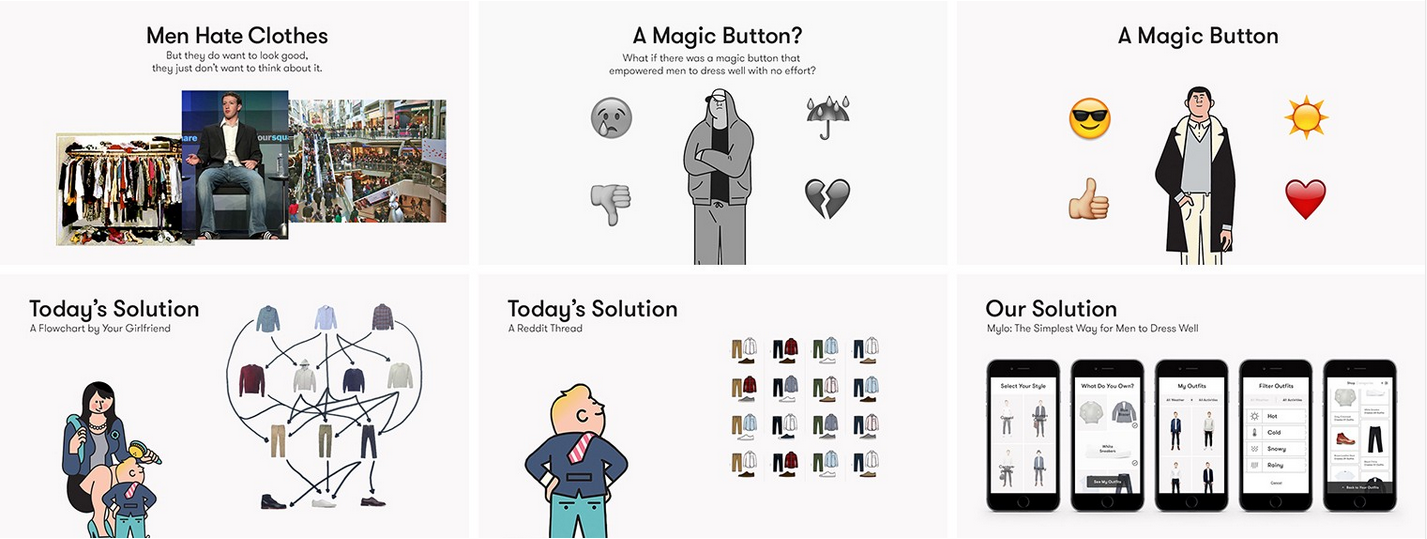 How To Design A Pitch Deck Lessons From A Seasoned Founder - Funny illustrations show the love hate relationship between designers