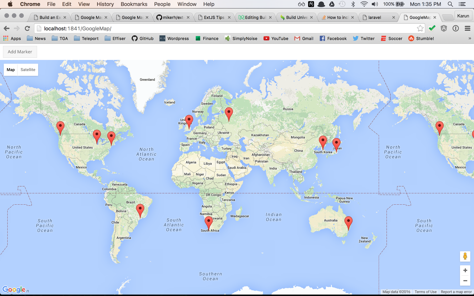 Build a google map panel gmap using markers loaded from a store in google maps panel gmap with extjs baditri Images
