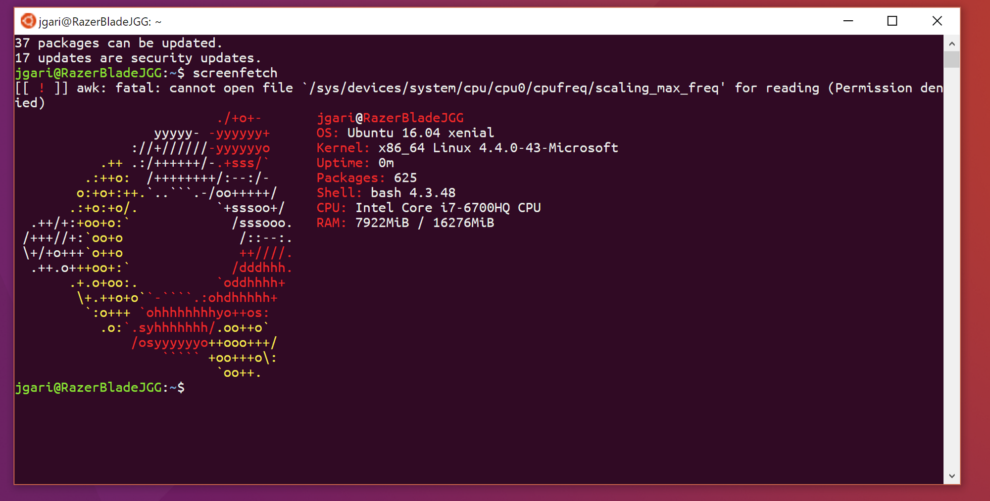 make bash on ubuntu on windows 10 look like the ubuntu terminal