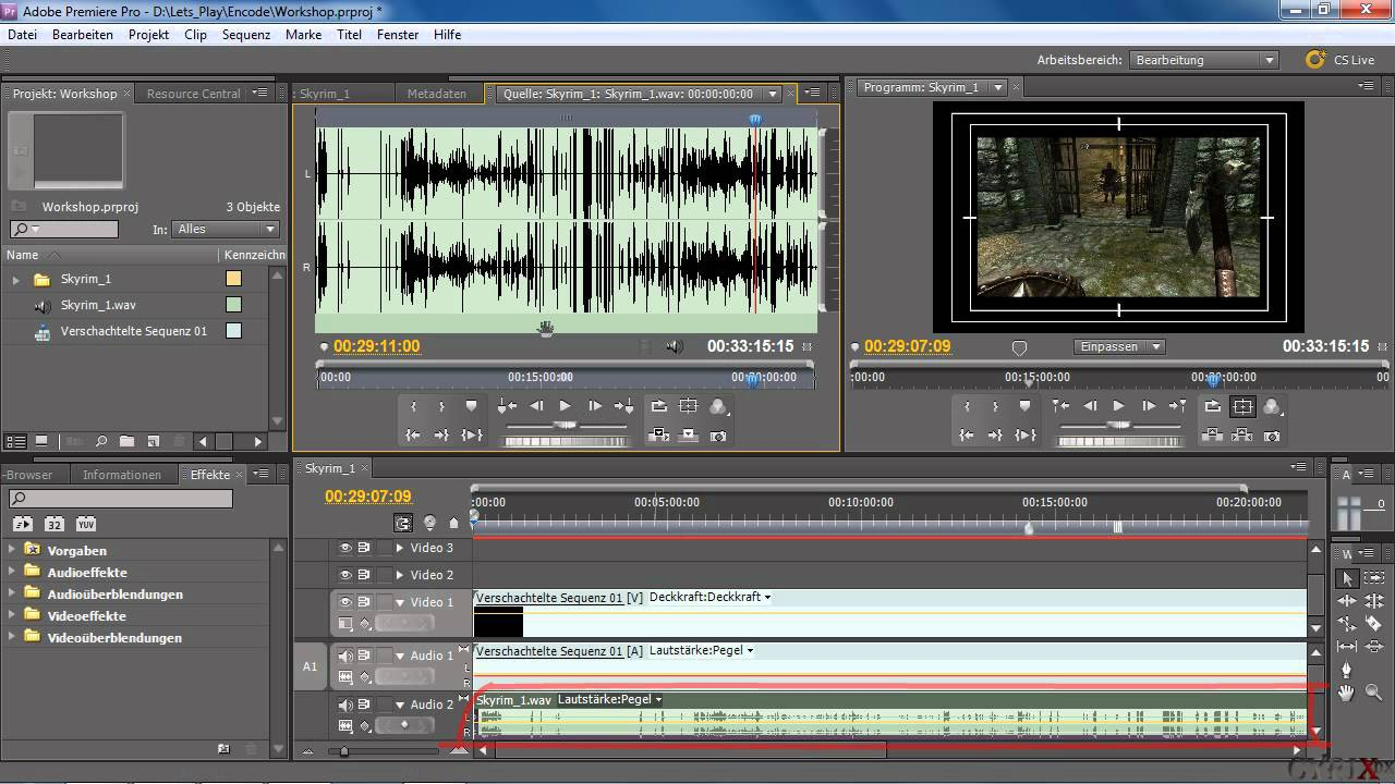 how to cut audio in premiere pro