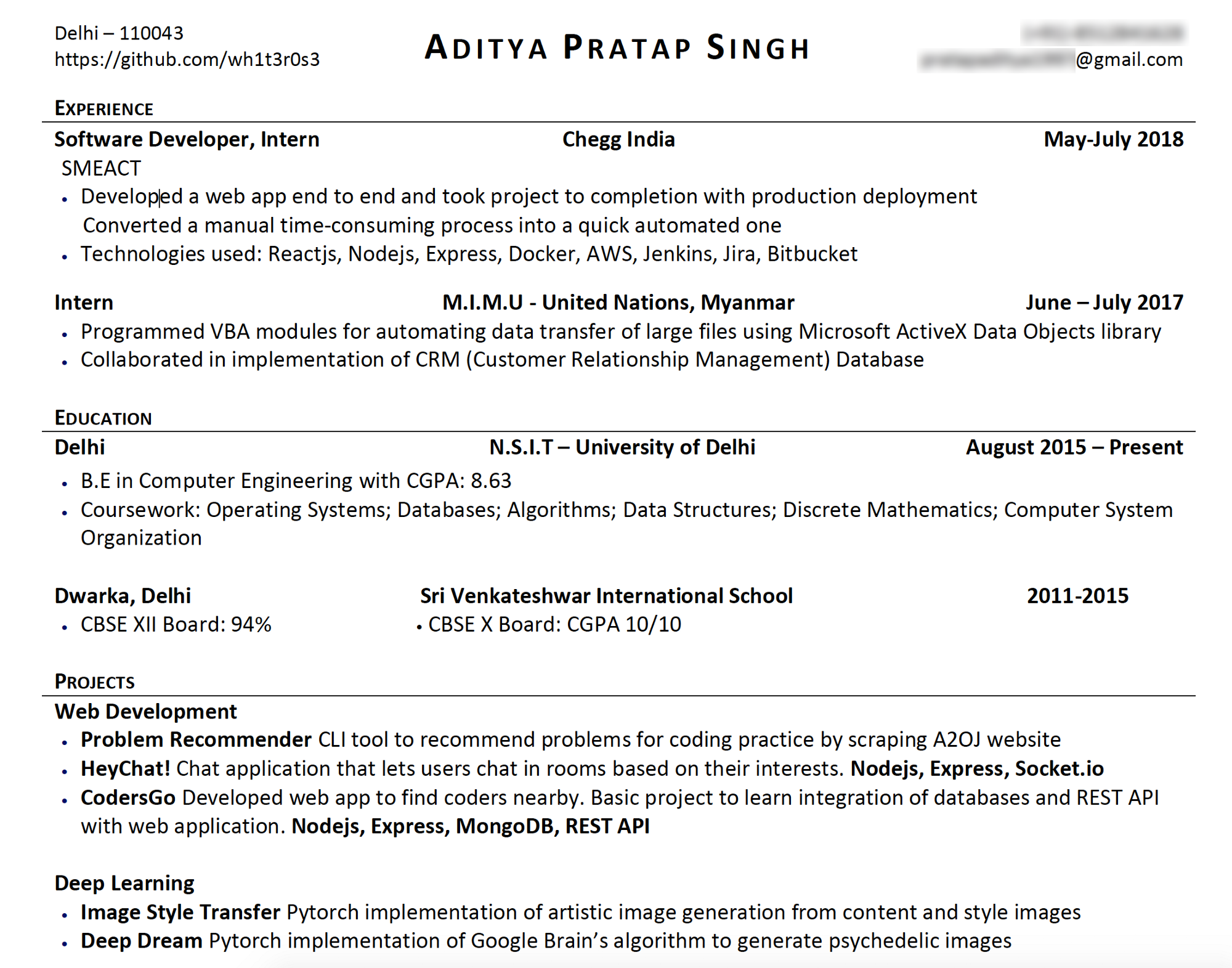 Resume in need of a RezScore Makeover