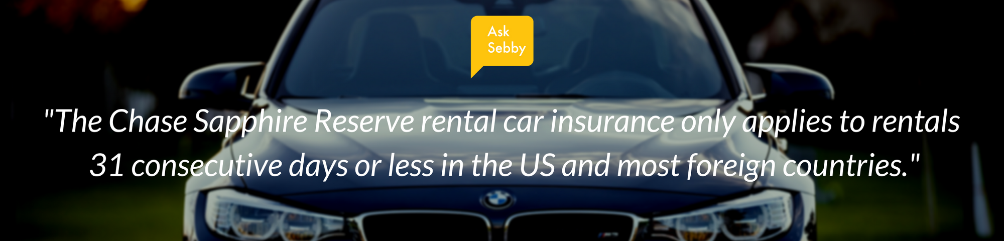 Chase Sapphire Reserve Rental Car Liability Insurance